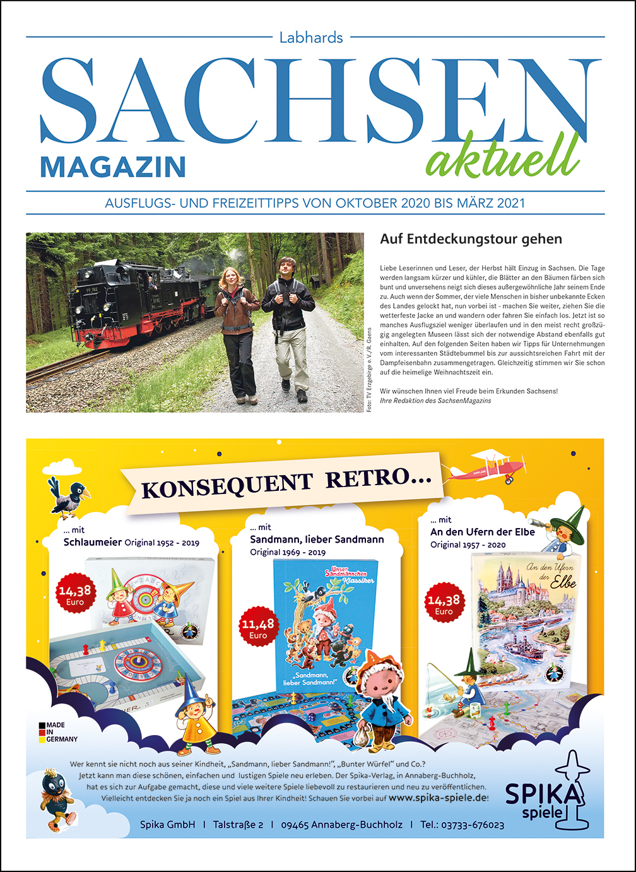 SachsenMagazin aktuell, Ausgabe 3/2020, Herbst/Winter